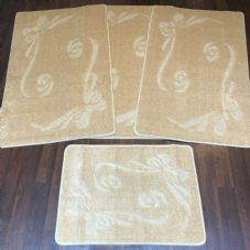 ROMANY GYPSY WASHABLES SET OF TOURER SIZE 67X110CM MATS-RUGS NEW BOWS LT BEIGE